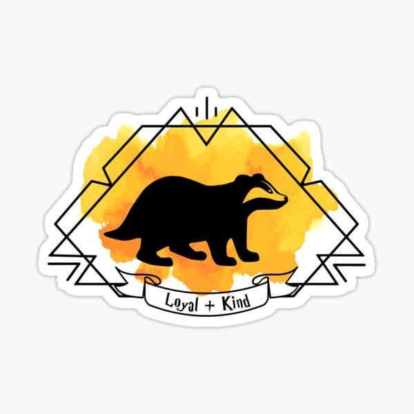 Huffle Badger Emblem Loyal Kind T-shirt Sticker Phone Case Sticker