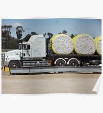Trucking cotton Poster