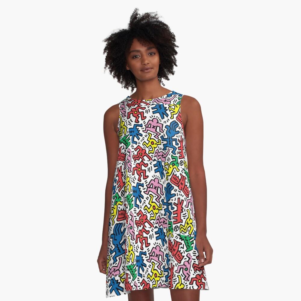 Haring pop art A-Line Dress