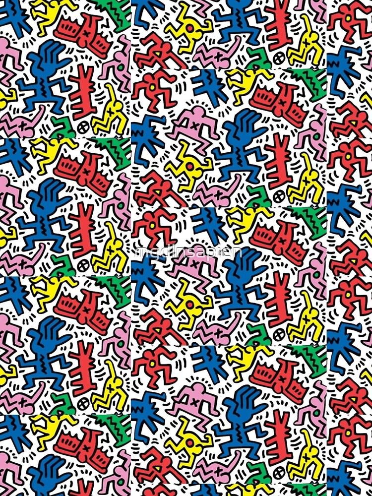 Haring pop art by mgdlnsapien