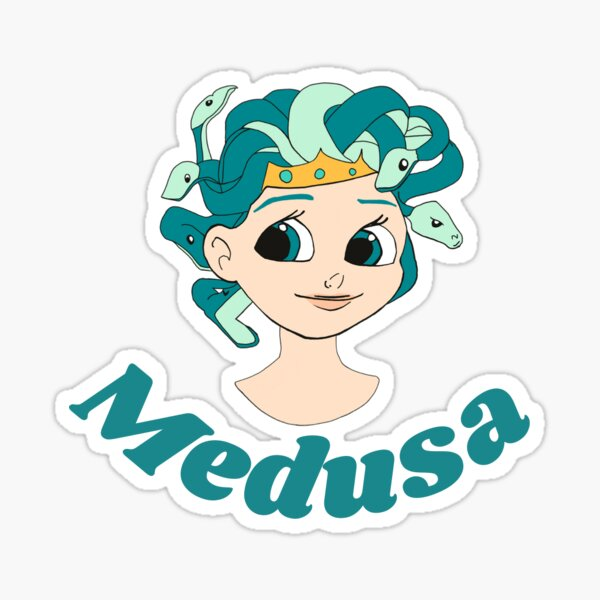 Young Medusa Sticker