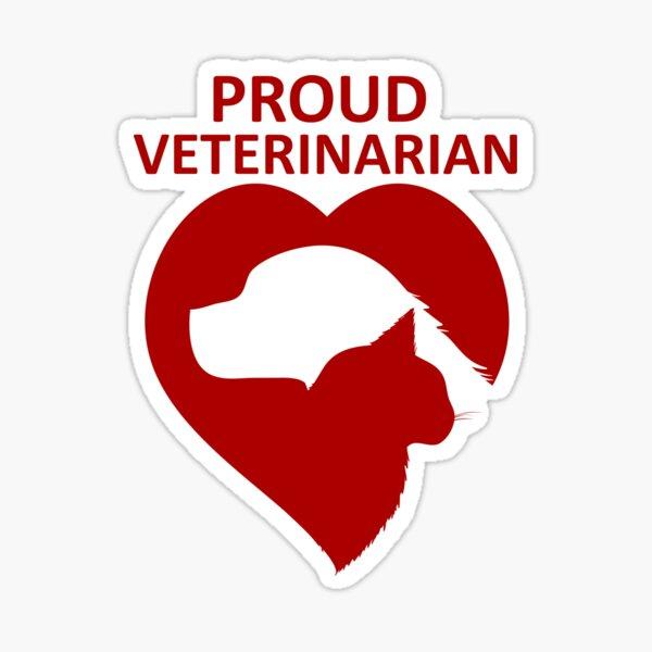 Proud Veterinarian Sticker