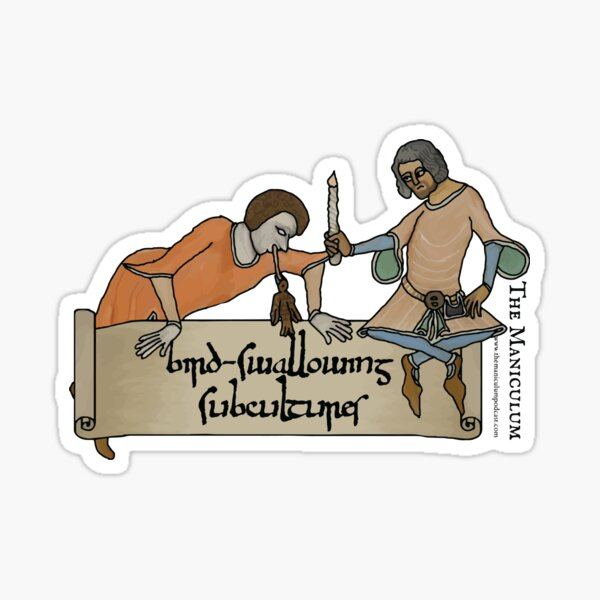 Bird Swallowing Subcultures Sticker