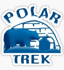 A Cool Polar Trek Sticker