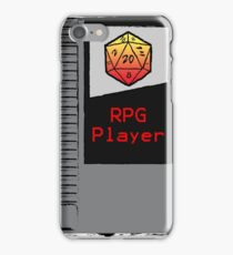 Firey Red d20 RPG Player NES cartridge iPhone Case/Skin