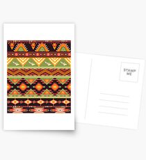 Seamless colorful aztec pattern with birds and arrow Postcards