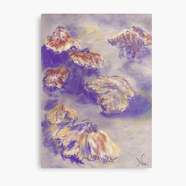 Plein Air Shrooms (pastel) Metal Print