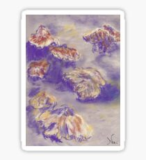 Plein Air Shrooms (pastel) Sticker