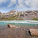 Boulders in Upper Ice Lake by Jeff Goulden