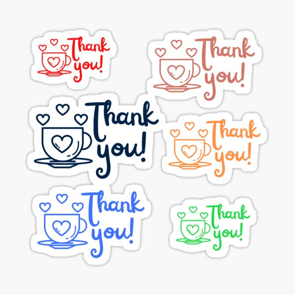 Thank you Stickers pack for customers Sticker