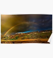 """Rainbow Over North Lorne"" Poster"