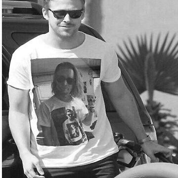 Ryan Gosling wearing aT-shirt of Macaulay Caulkin wearing a T-shirt of Ryan Gosling  by Grod2014