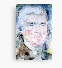 THOMAS JEFFERSON - watercolor portrait Canvas Print