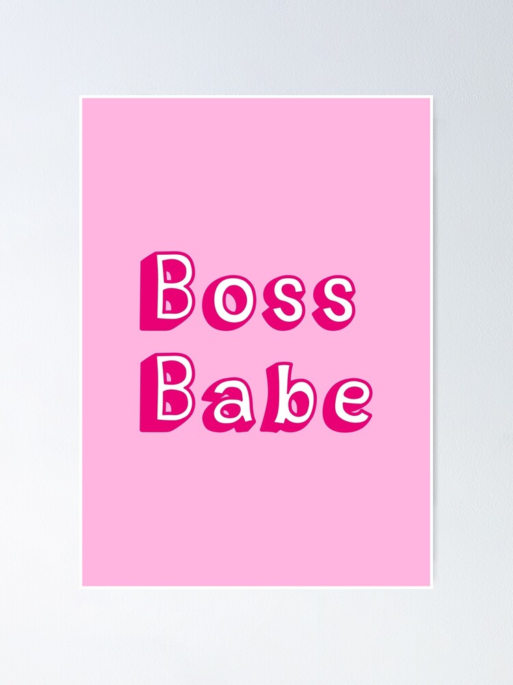 Alternate view of Boss Babe Pink Poster