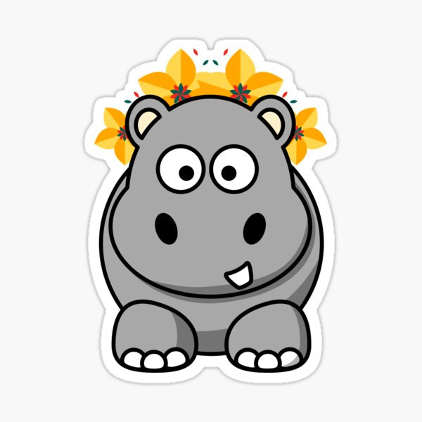 Pretty hippopotamus sticker Sticker