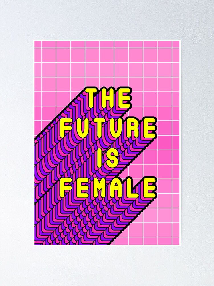 Alternate view of Future Is Female Yellow Poster