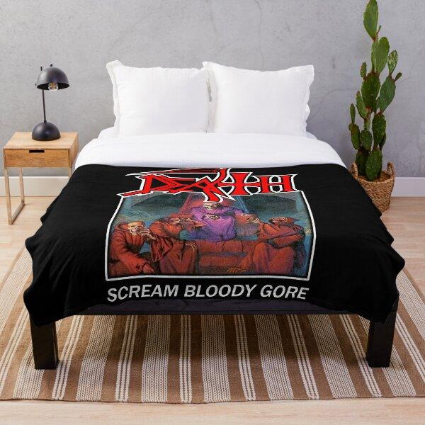 Death - Scream Bloody Gore Throw Blanket