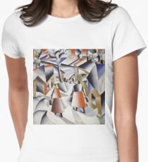 Kazimir Malevich - Morning In The Village After Snowstorm. Abstract painting: abstract art, winter, village, snowstorm, lines, forms, creative fusion, spot, shape, illusion, fantasy future T-Shirt