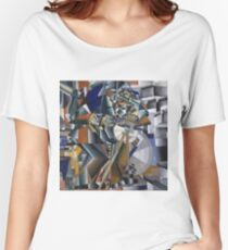 Kazimir Malevich - The Knife Grinder Or Principle Of Glittering. Abstract painting: art, geometric, expressionism, composition, lines, forms, creative fusion, spot, shape, illusion, fantasy future Women's Relaxed Fit T-Shirt