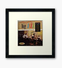 jazz lp on crown Framed Print
