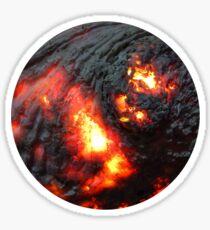 Flaming Seashell 4 Sticker
