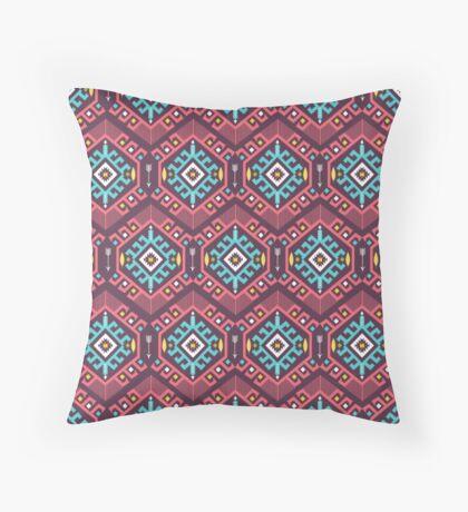 Aztec geometric seamless  colorful pattern Throw Pillow