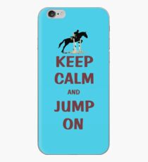 Keep Calm and Jump On Horse T-Shirt or Hoodie iPhone Case