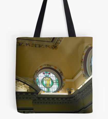 Elegant Stained Glass Windows, Town Hall, South Shields Tote Bag