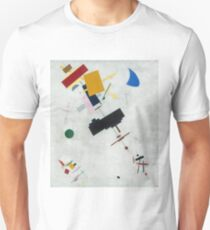 Kazimir Malevich - Suprematism. Abstract painting: abstract art, geometric, expressionism, composition, lines, forms, creative fusion, spot, shape, illusion, fantasy future T-Shirt