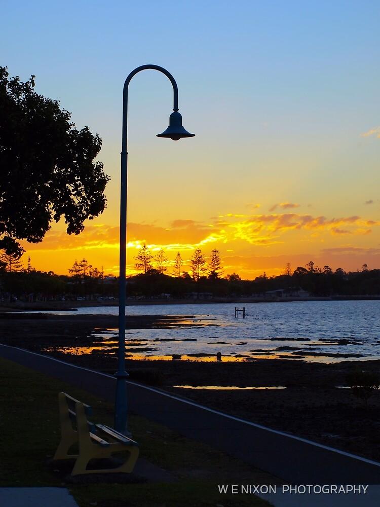 Wynnum Sunset 2 by W E NIXON  PHOTOGRAPHY