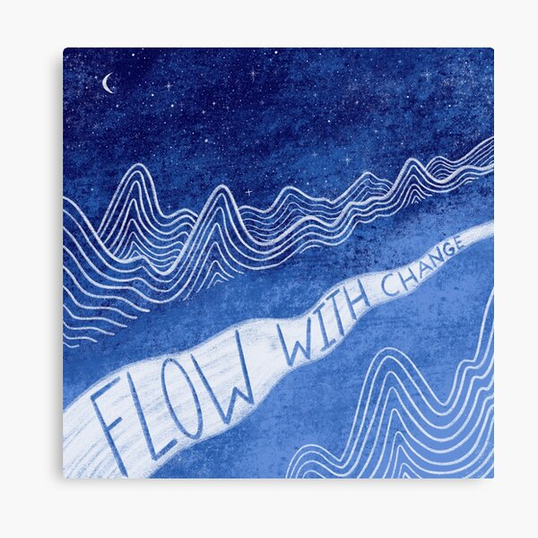 Flow With Change Blue Canvas Print