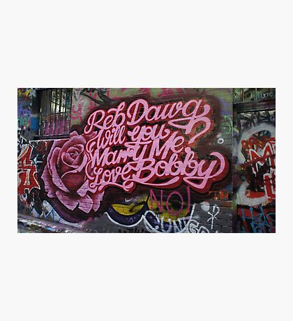Reb Dawg will you marry me Bobby Hoiser Lane Photographic Print