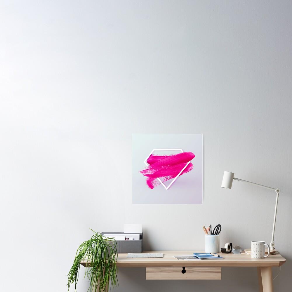 Diamond Pink Poster
