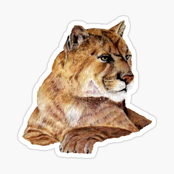 Idaho Mountain Lion Cougar and Hounds Decal Car Window Sticker