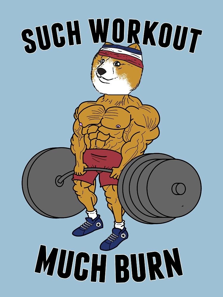 Such Workout, Much Burn Doge | Unisex T-Shirt