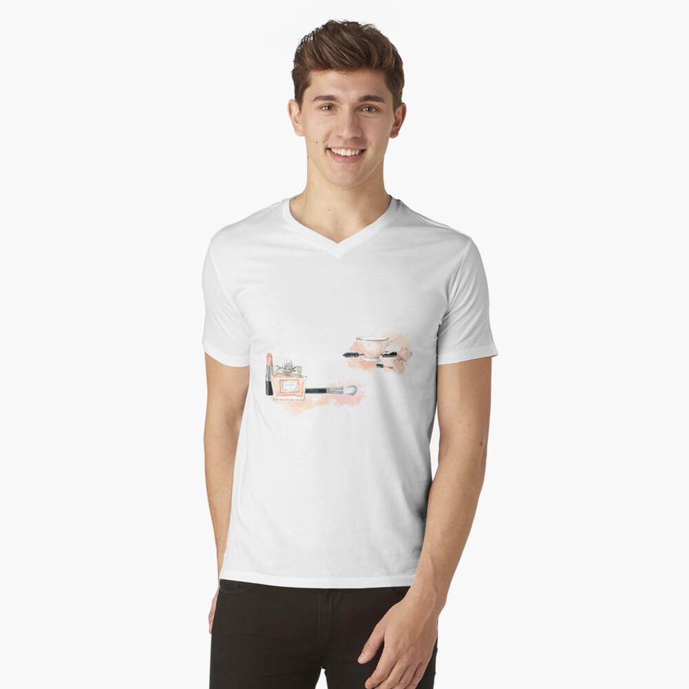 Blush beauty Camiseta de cuello en V