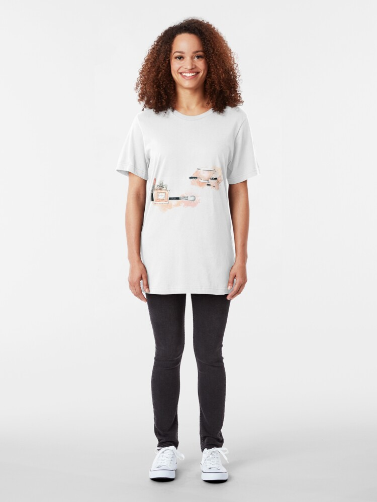 Vista alternativa de Camiseta ajustada Blush beauty