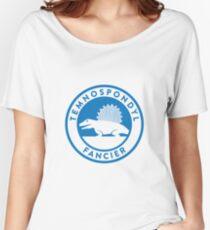 Temnospondyl Fancier Tee (Blue on White) Women's Relaxed Fit T-Shirt