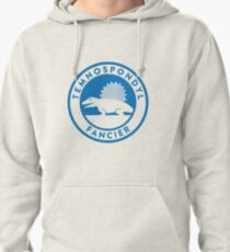 Temnospondyl Fancier Tee (Blue on White) Pullover Hoodie