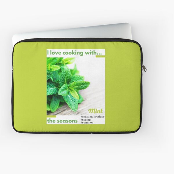 Cooking with the seasons - Mint Laptop Sleeve
