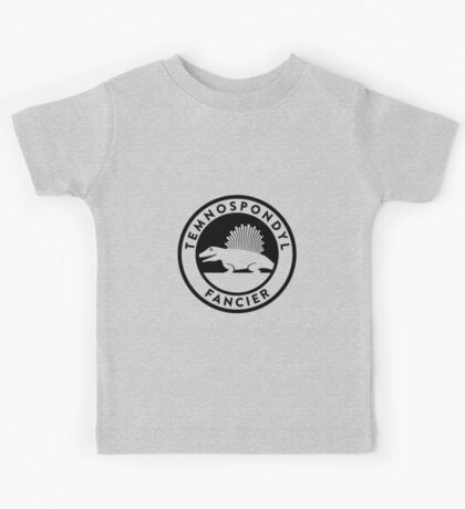 Temnospondyl Fancier Tee (Black on Light) Kids Clothes