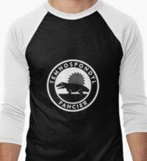Temnospondyl Fancier Tee (White on dark) Men's Baseball ¾ T-Shirt
