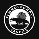 Temnospondyl Fancier Tee (White on dark) by David Orr
