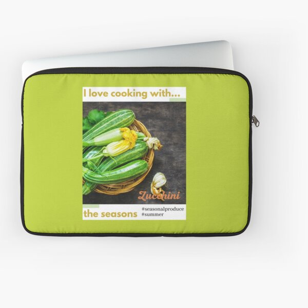 Cooking with the seasons - Zucchini Laptop Sleeve