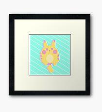 Pikachu Pastel Framed Print