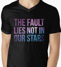 The Fault Lies Not in Our Stars Mens V-Neck T-Shirt