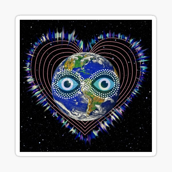 Musical Planet Earth  Sticker