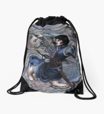 River of Death Drawstring Bag
