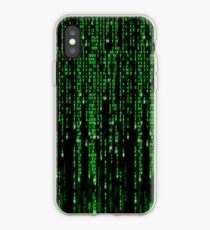 Matrix code style design iPhone Case