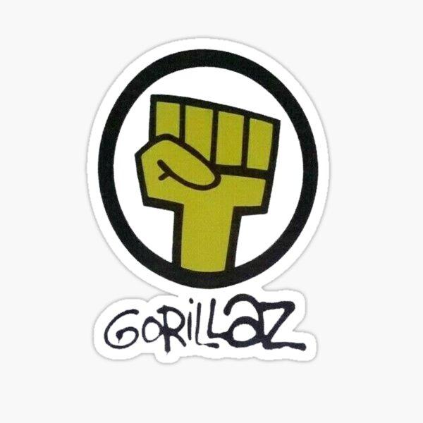 Gorilaz - main jaune Sticker